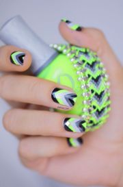 cool multi-color nail design