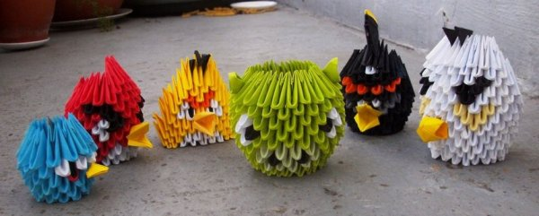 Angry Birds - 3D Origami