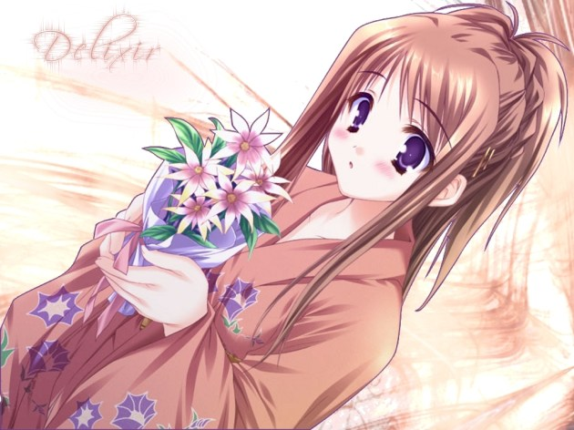 Flower Girl Anime Wallpaper