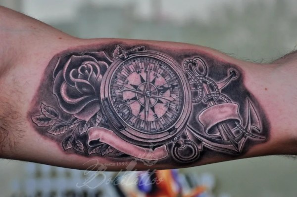 20 Anchor And Compass Tattoos For Men Ideas And Designs