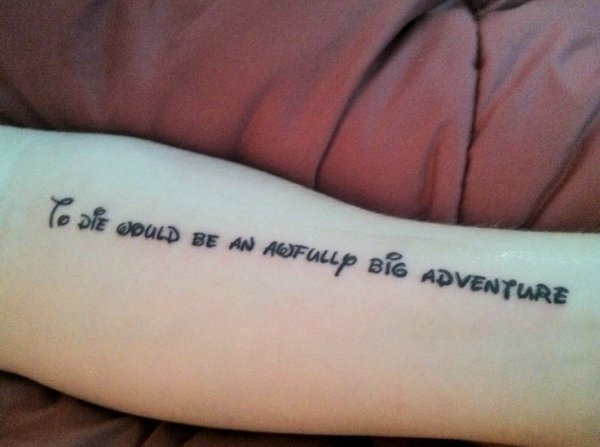 Peter Pan quote tattoo