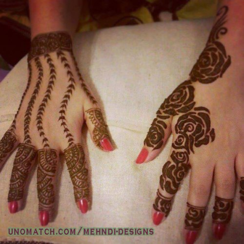 awesome back hand mehndi design