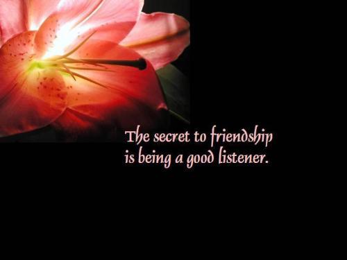 secret to friendship