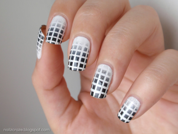 8 Black And White Nails Designs