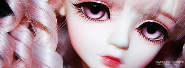 cute doll face facebook profile photo