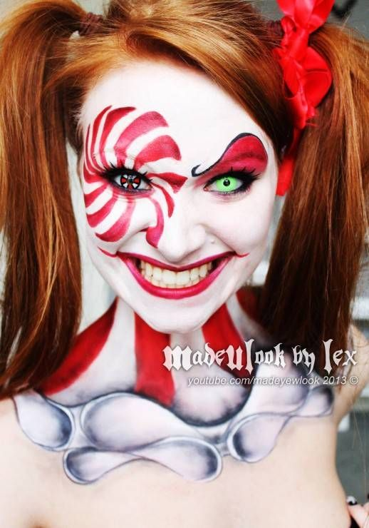halloween makeup ideas- scary clown makeup