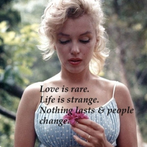 life quotes by marilyn monroe