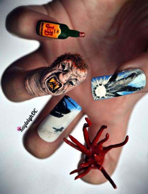 30 Best Spooky Scary Halloween Nail Art Design Ideas 2015