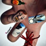 best spooky-scary Halloween nail art design ideas 2015