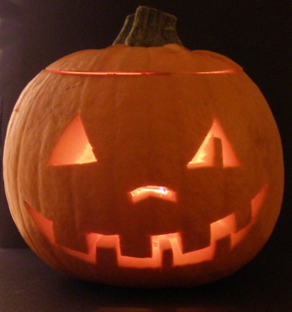 cool simple halloween pumpkin