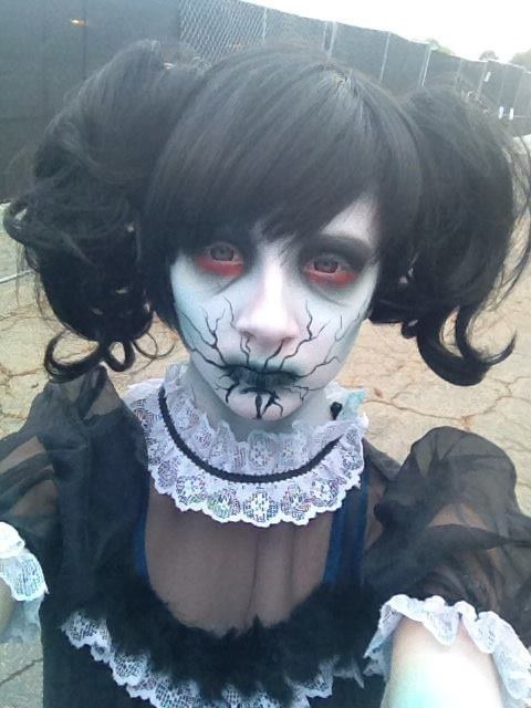 creepy halloween doll makeup