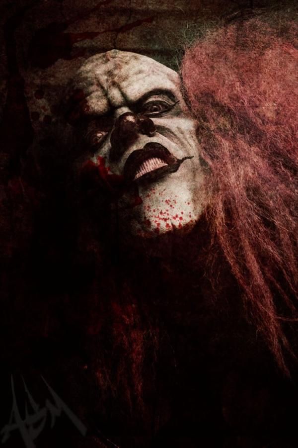 creepy most evil clown photo