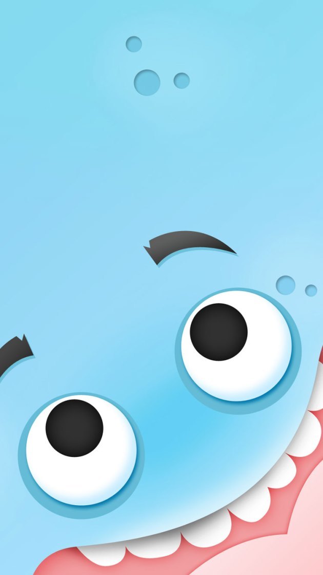 cute blue wallpaper for iphone6