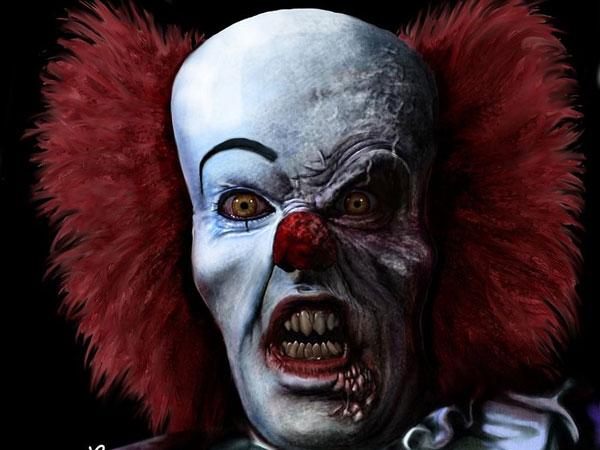 evil clown portrait