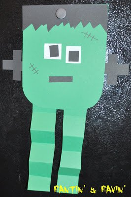 frankenstein easy halloween craft idea for kids
