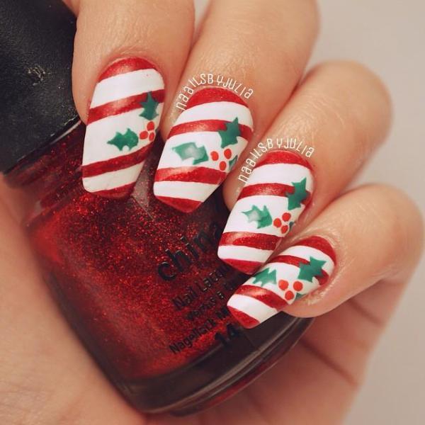 Christmas winter nail art