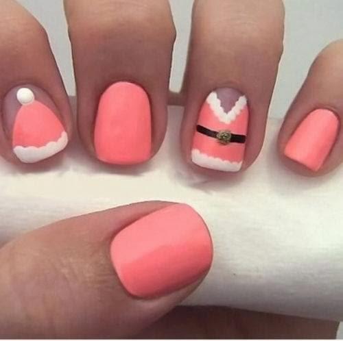 cute color winter nail art
