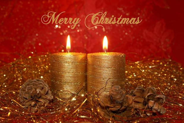 merry-christmas-golden-candles-wallpaper