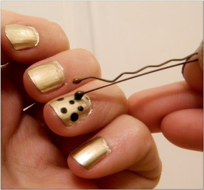 Easy-Peasy Polka Dot Nails