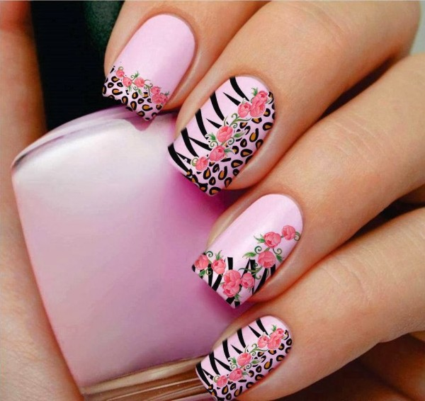 beautiful and attractive flower nails