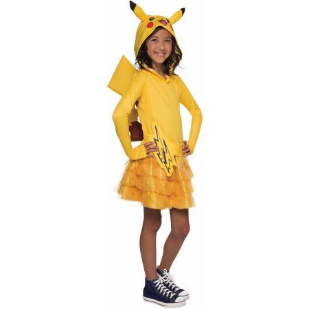 pokemon-pikachu-hoodie-dress-for-girls