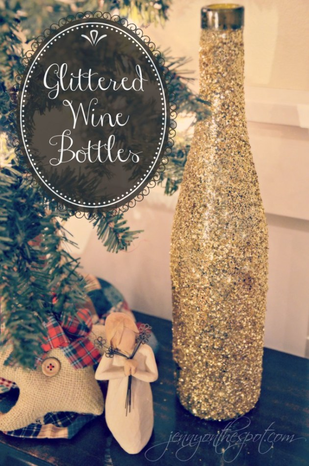 glittered-wine-bottles