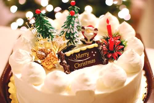 Merry Christmas Cake Picture