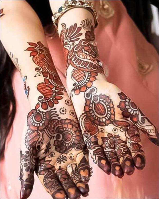 shaded mehndi