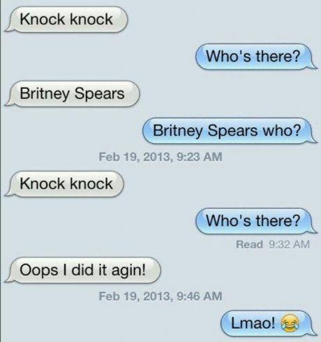 Britney Spears Knock Knock joke