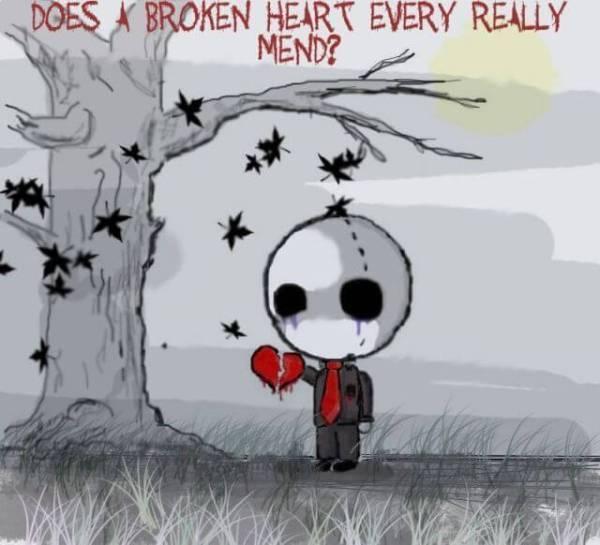 feel the pain of broken heart