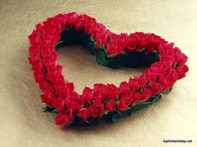 heart bouqet of roses