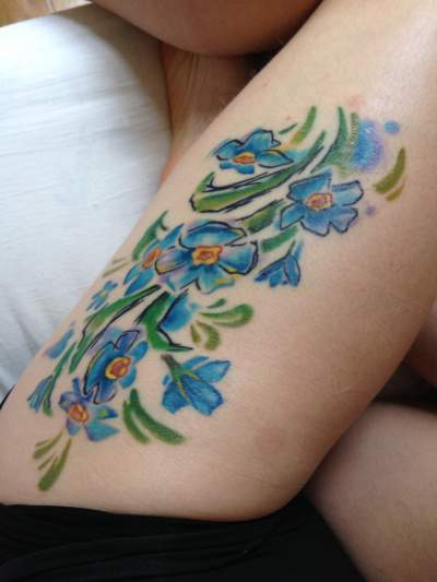 25 Lovely Forget Me Not Flower Tattoo Designs Entertainmentmesh