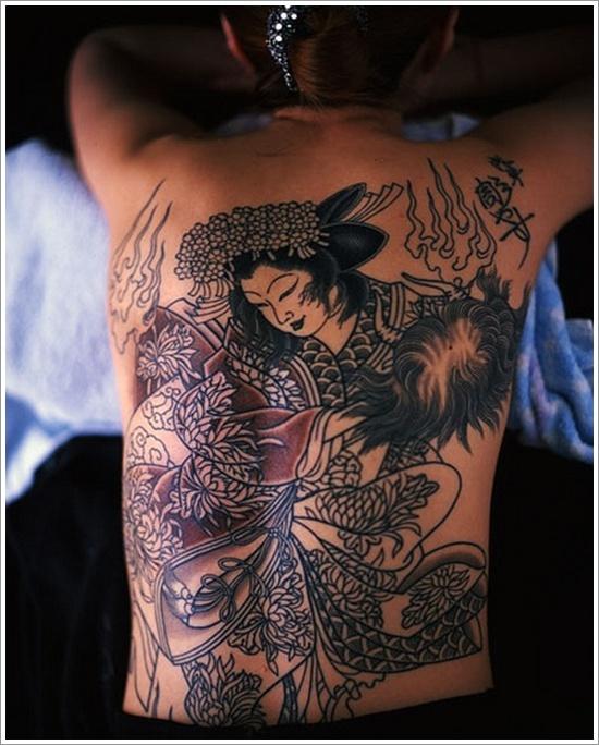 Demeanor Tattoo geisha girl