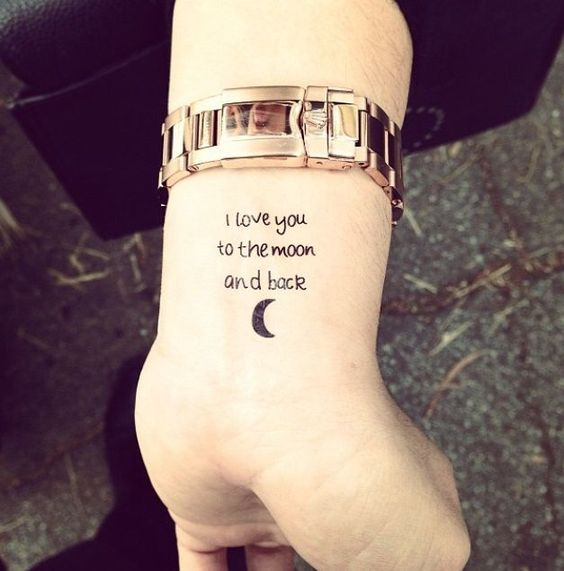 fa85c85c7 20 I Love You To The Moon And Back Tattoo Ideas Hative. 30 Best Small Tattoo  Symbols For 2017 Entertainmentmesh