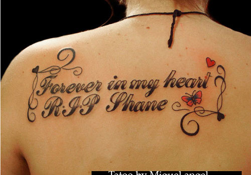 forever in my heart R.I.P shane