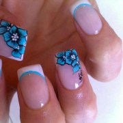 light color spring nail art