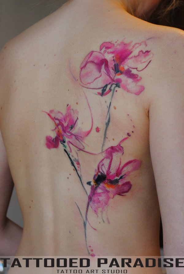 orchids flower tattoo