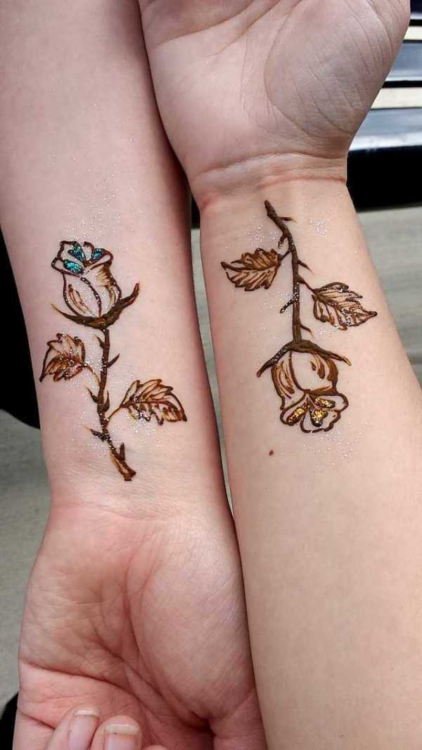 Rose Henna Tattoo Designs On Wrist Small: 25 Simple Cute Small Henna Design Ideas