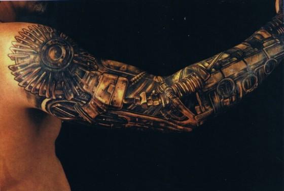 steampunk arm tattoo