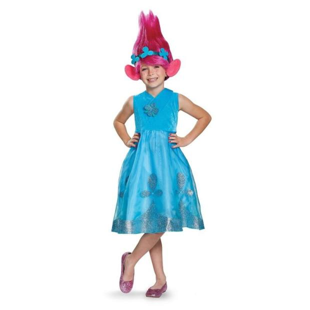 Poppy Troll halloween kids costume