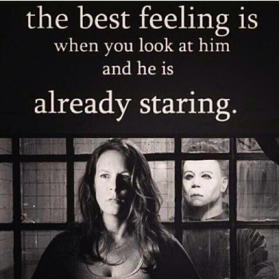 the best feeling is when you look at him and he is already staring