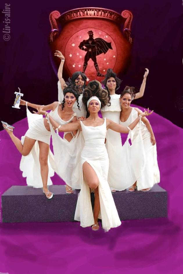 women halloween group hercules theme dress in white