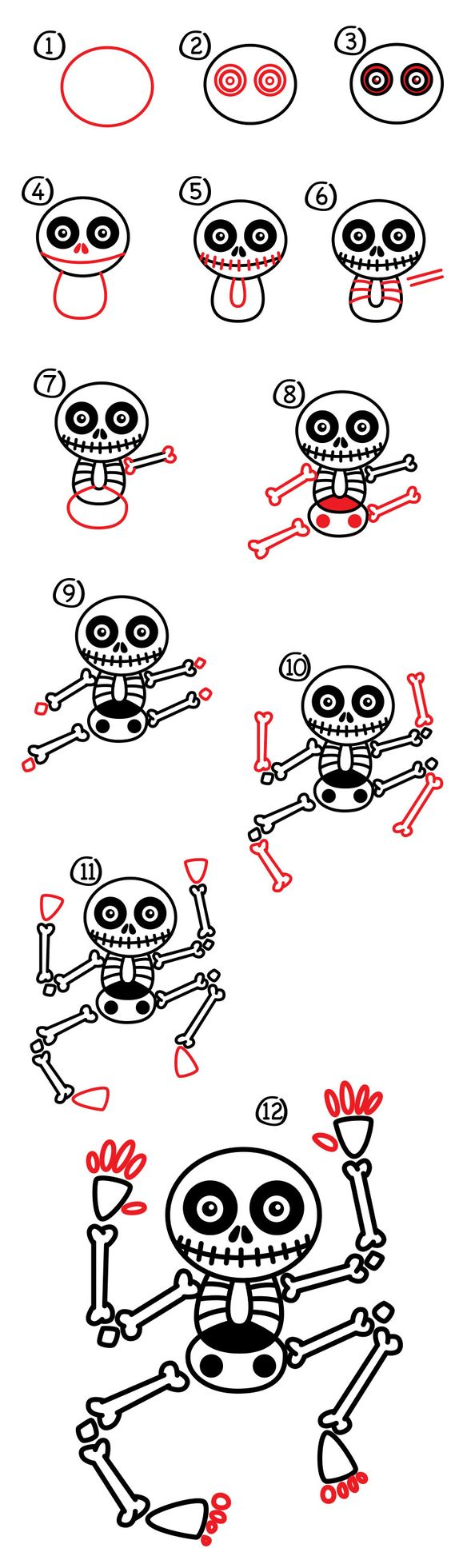 Cool Step by step Skeleton