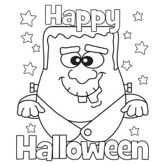 Free Printable Happy Halloween Coloring Pages for Kids - Print Them All
