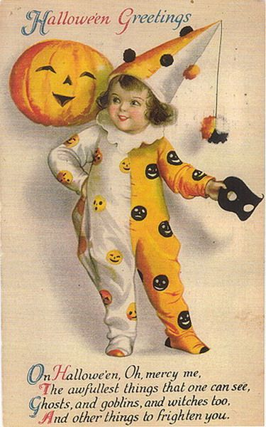 Free cute Vintage Halloween Postcards Images