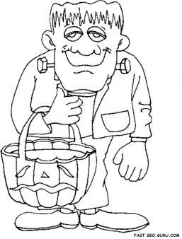 Free printable halloween frankenstein coloring pages for kids