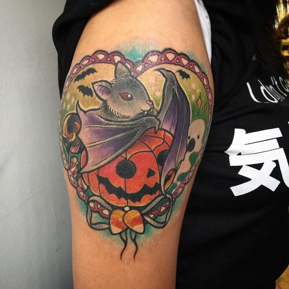 Halloween themed tattoo designs