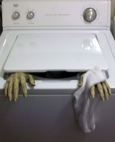 Hand washed socks Halloween Prank