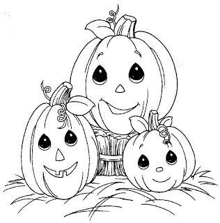 Happy Halloween Coloring pumpkins