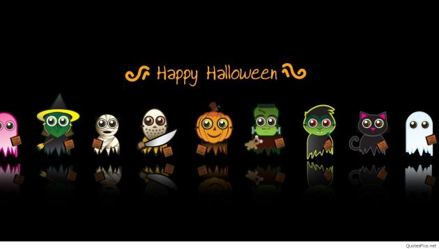 Happy Halloween cartoons wallpaper